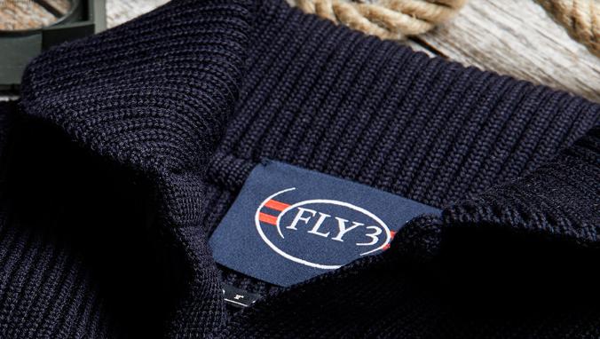 cardigan blu lana a coste Fly3