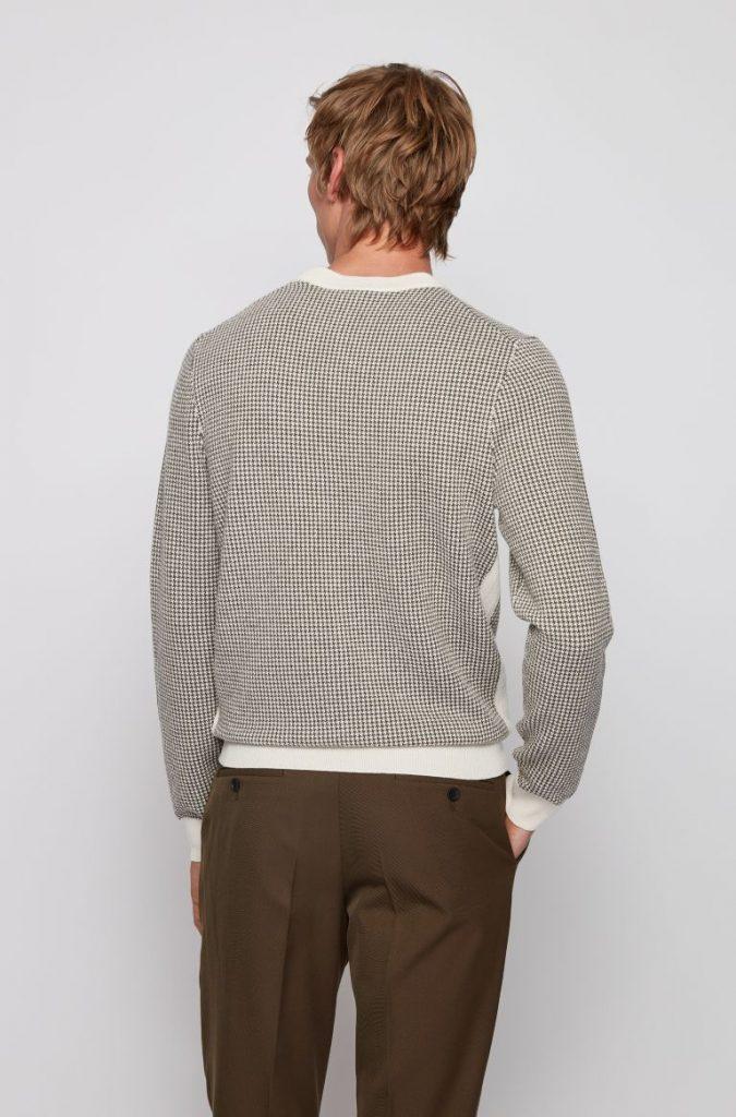 Hugo Boss_Maglione slim fit in lana vergine