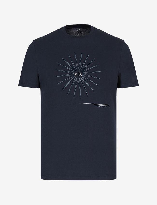 maglietta con stampa A X